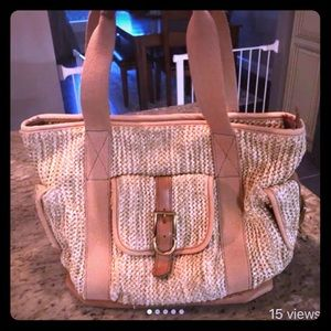 Extra large woven Fossil bag (purse or diaper bag)